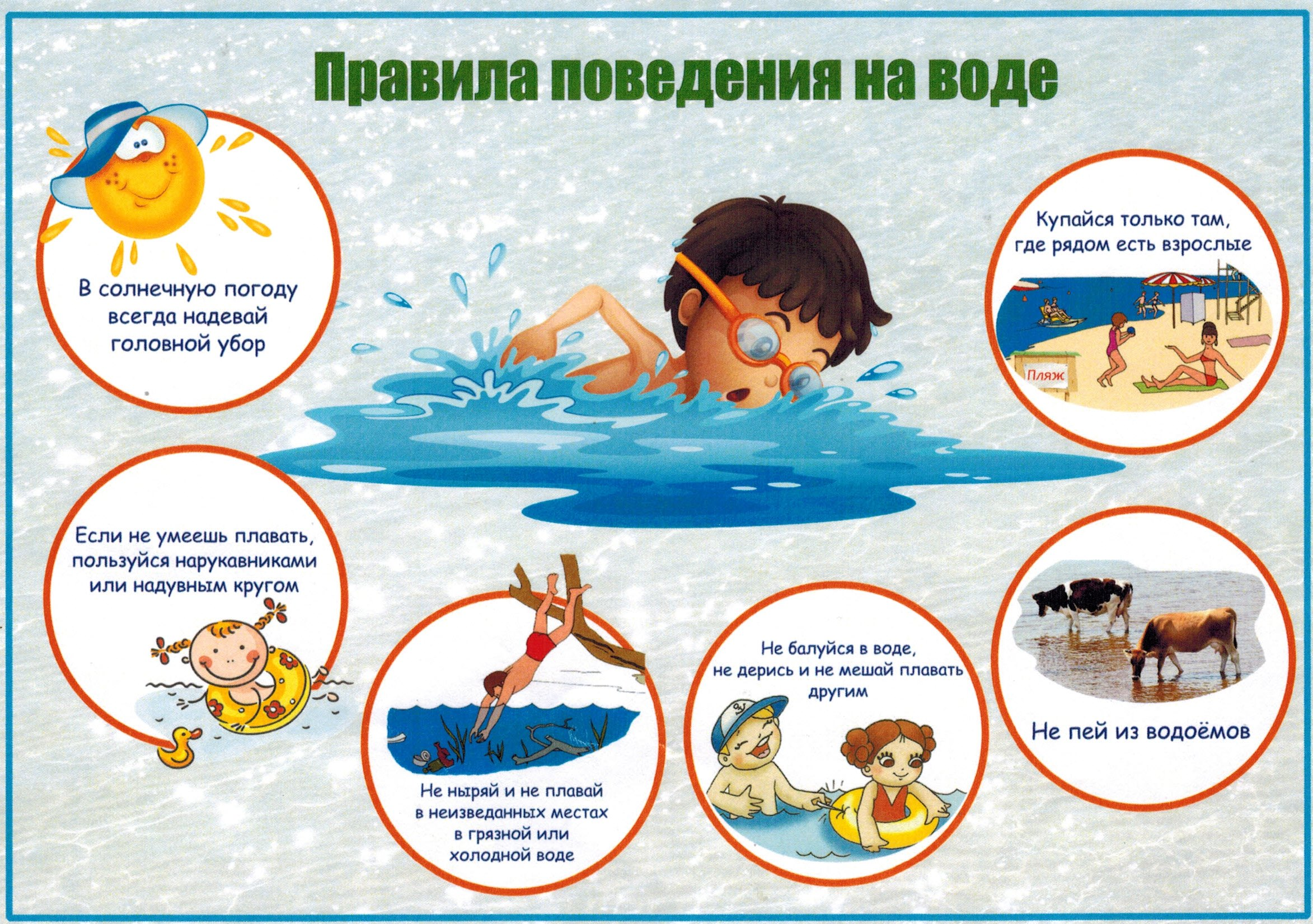 Картинки по запросу безопасность на воде рисунки